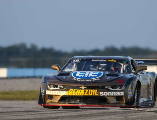 Teammates Loshak and Drissi Lock Up Trans Am Front Row